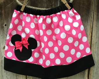 Pink Minnie Mouse Skirt