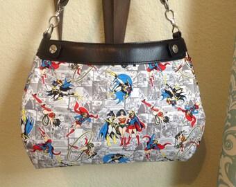Super Girls print SUITE skirt purse skirt cover handmade Thirty one