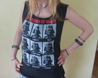 Darth Vader Star Wars Deconstructed Slashed Tshirt Diy Weaved