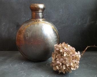 Vintage Metal Vase .Indian Jug .Water Pot .Boho urn.