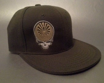 Steal Your Maze Fitted Hat made to order flat bill Grateful Dead FREE SHIPPING