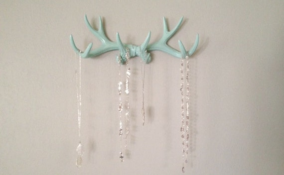MINT Faux Deer Antler Rack // Jewelry Holder // Scarf Holder // Mug Holder // Jewelry Organizer // Teen Gift // Necklace Rack
