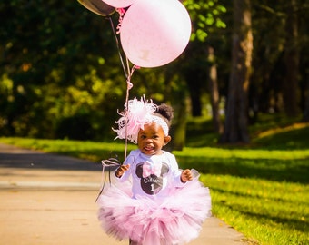 Minnie Mouse Birthday Outfit ,Minnie Mouse First Birthday Outfit, Minnie Birthday Tutu, 1st birthday outfit , pink birthday outfit