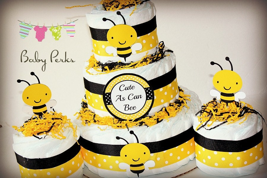 bumble bee diaper cake mother to bee baby shower baby