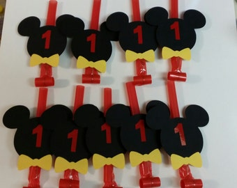 8 Mickey Mouse Blowouts party favors