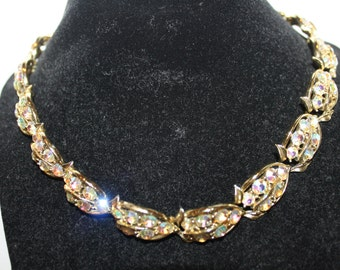 Mid Century AB Sparkly Necklace