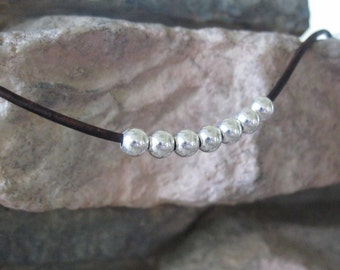 5 mm Bead Sterling Silver Round Seamless Large Hole 2 mm hole 20 Beads