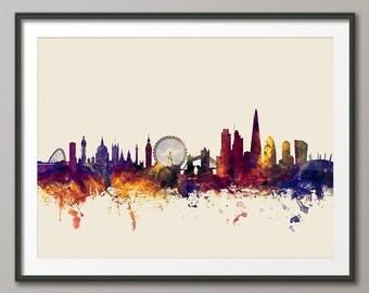 London Skyline, London Cityscape England, Art Print (1354)