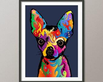 Chihuahua Dog, Pop Art Print (1745)