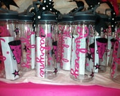 Personalized Water Bottles 22oz. w/Sip top BPA Free Cheer, Cheerleader, Dance, Softball