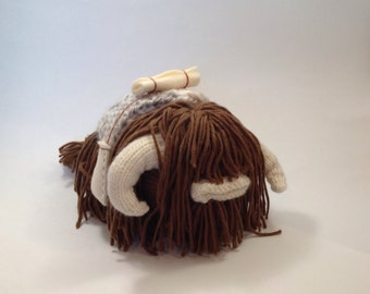 Star Wars Bantha Knitting Pattern - Plush toy animal / alien / Monster