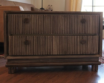 Farmhouse Brown Rustic  Low Cabinet Dresser Storage, T.V. Stand