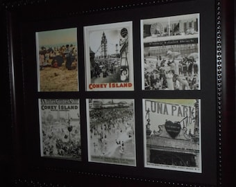 CONEY ISLAND - Reproduction pictures of the iconic New York City Beach (in a frame)