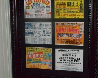 BRITISH CONCERT POSTERS  (Vintage reproduction collectors pictures of Concert posters)