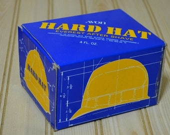 Vintage Avon Hard Hat Everest After Shave Decanter Bottle 1980s