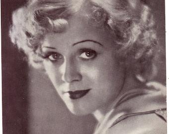 Headshot of Gloria Stuart Offset Printing on Lightweight Stock Promotional Photo The Invisible Man