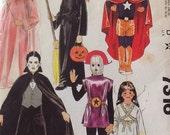 McCall's Pattern 7316 Child Sz Large 10-12 Witch-Princess-Superman-Dracula 1980 Vintage