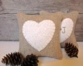 Rustic Wedding Favor, Decorative Heart Pillow, Maine Balsam Pillow, Rustic Heart Pillow, Bridal Shower, Anniversary