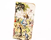 Book phone /iPhone flip Wallet case- Alice in Wonderland for iPhone 7, 6, 6 & 7 plus, 5, 5s, 5c, 4- Samsung Galaxy S7 S6, S5 , Note 4, 5, 7
