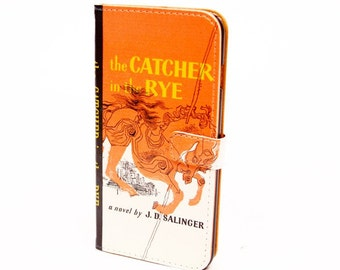 Book phone /iPhone flip Wallet case- Catcher in the Rye for  iPhone 7, 6, 6 & 7 plus, 5, 5s, 5c, 4- Samsung Galaxy S7 S6, S5 , Note 4, 5, 7