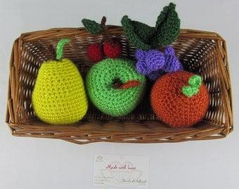 Crochet Fruit basquet set