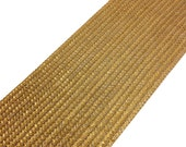Dull Gold Crochet Weaving Extra Wide Gota - Sari Border - Gota Ribbon for Wedding Lehenga Dresses - Raw Silk Border