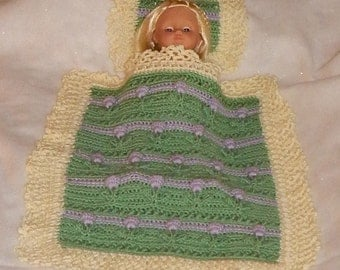 AG Doll Tulips Blanket & Pillow Crochet Pattern