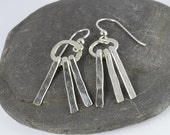 Fringe Earrings, Sterling Modern Earrings, Hammered Earrings, Handmade Earrings, Sterling Bar, Jewelry Trends, Dangle, Modern Dangle, Fringe