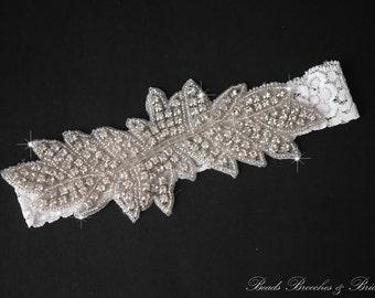 Sale Silver Rhinestone Wedding Garter, Crystal Wedding Garter, Bridal Garter, Silver Rhinestone Wedding Garter, Garter, Wedding Garters