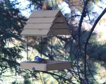 Hand Crafted PINE BirdFeeder FREE Shipping