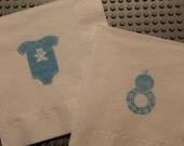50 Baby Onesie PAPER NAPKINS Baby Boy Shower Decorations Baby Girl Shower Decorations Paper Napkins Baby Shower Onesie Decorations Pacifier