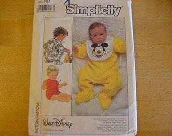 Vintage1980s UNCUT, Simplicity Pattern 8264, Infant, Baby Sleeper, 2 Lengths, Footed Sleeper, Bib, Newborn 0-3 Months