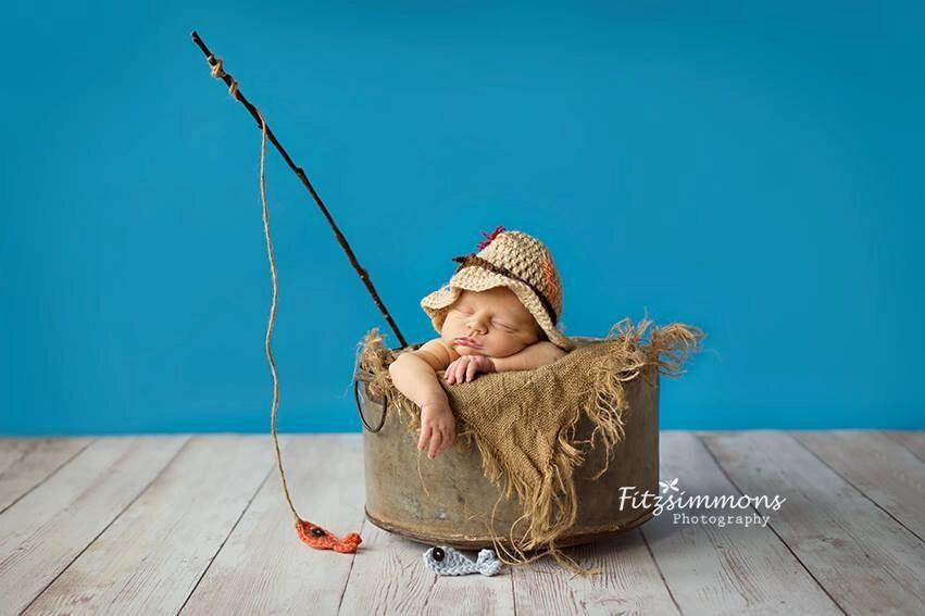 Fisherman hat baby boy fisherman set newborn fisherman for Baby fishing hat