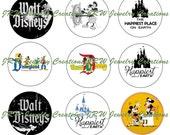 Disney Inspired Mickey 1 Inch Bottle Cap Images - Retro Vintage