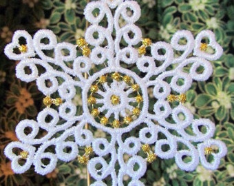 Free Standing Lace Snowflake Ornament