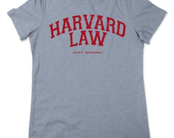 harvard law t-shirt ladies womens gag gift novelty shirts funny tees for girls lawyer humor legal college girlfriend wife large xl 2xl 3xl