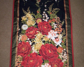 Hand Quilted Flowered Wall Hanging