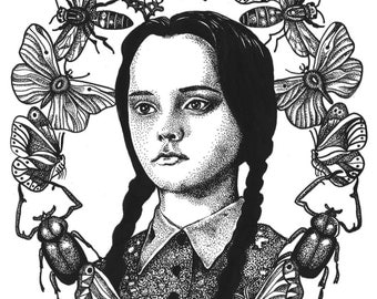 Wednesday addams portrait