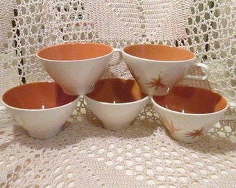 Lot of 6 Iroquois China Ben Seibel Mid-Century Mod Coffee Cups