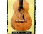 Willie Nelson trigger  guitar iconic  music art gift for guy musician hipster boyfriend gift