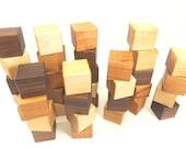 36 Wooden Building Blocks - Natural Hardwood Toy Blocks -Wood Block Set