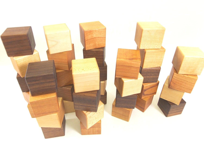 Wood Building Blocks ~ Wood block set building wooden blocks baby