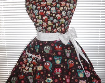 Sweetheart Retro Apron Flirty Circular Skirt