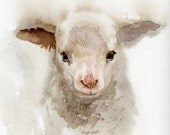 Lamb print Nursery art, GICLEE print, baby shower gift