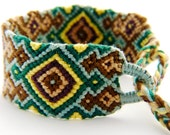 Funky Tribal Handwoven Multi Colour Friendship Bracelet - Great hand knotted macrame gift for Best Friends or teenagers