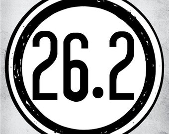 26.2 Miles Full Marathon Vinyl Car Decal FREE SHIPPING