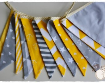 Scandinavian style colours - Bunting Banner . Flag Bunting . Pennant Banner . Flag Garland . Party Decoration . Fabric Bunting .