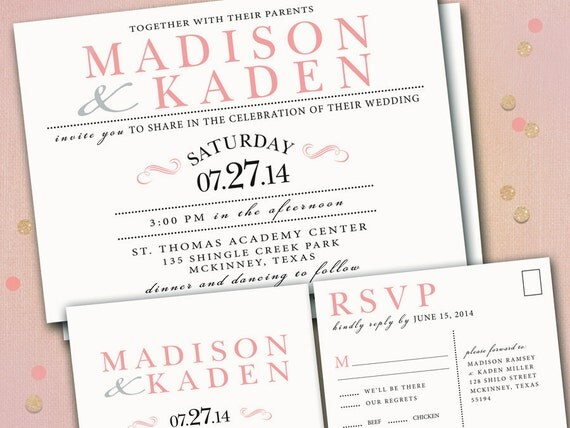 Navy And Peach Wedding Invitations: Wedding Invitations Invites Announcement Announcements RSVP