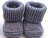 Oh Baby Baby Bootie, Knit PDF Pattern by Double Diamond Knits       permission to sell finished booties