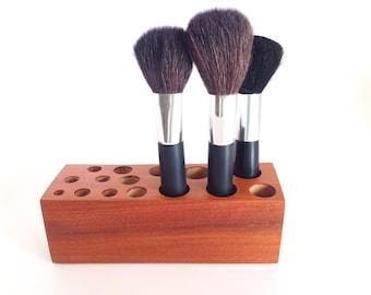 Make up Organizer Bathroom Accessories African Wood